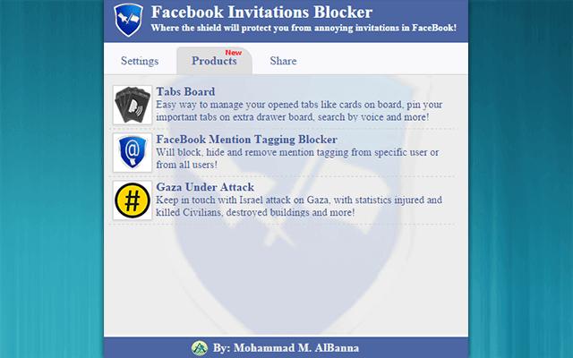 Facebook Invitations Blocker