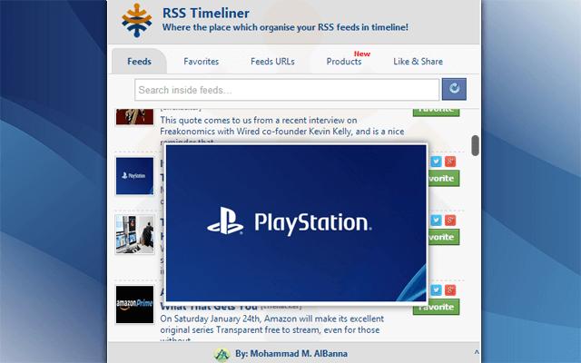 RSS TimeLiner Chrome Extension